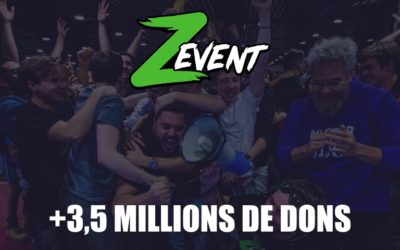 ZEvent : 3,5 millions de dons réunis en +40 heures de live